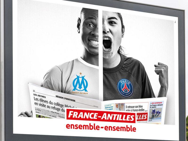 Portfilio France-Antilles Ensemble-ensemble réalisation havas c'direct Agence Conseil Communication Publicité Développement Web